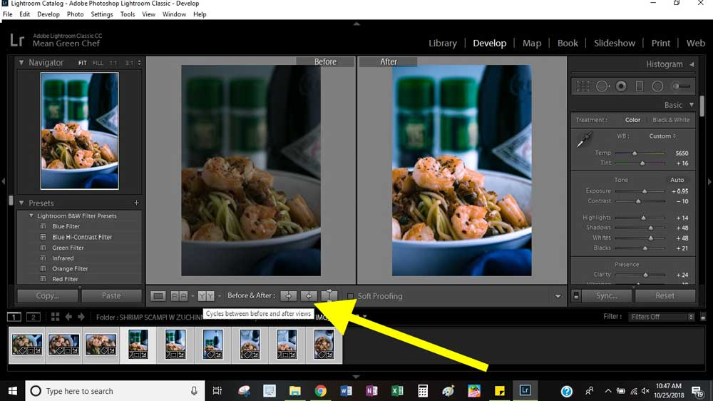 Learn Lightroom Basics for Food Photography | Mean Green Chef