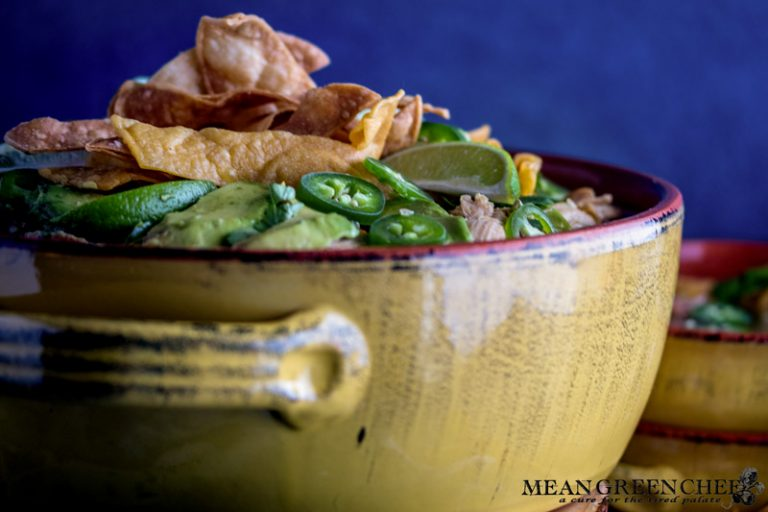 Side photo of Mexican Tortilla Chicken Soup