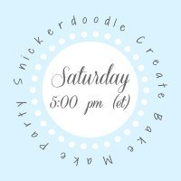 Snickerdoodle Create Make Bake Party Link Party Logo