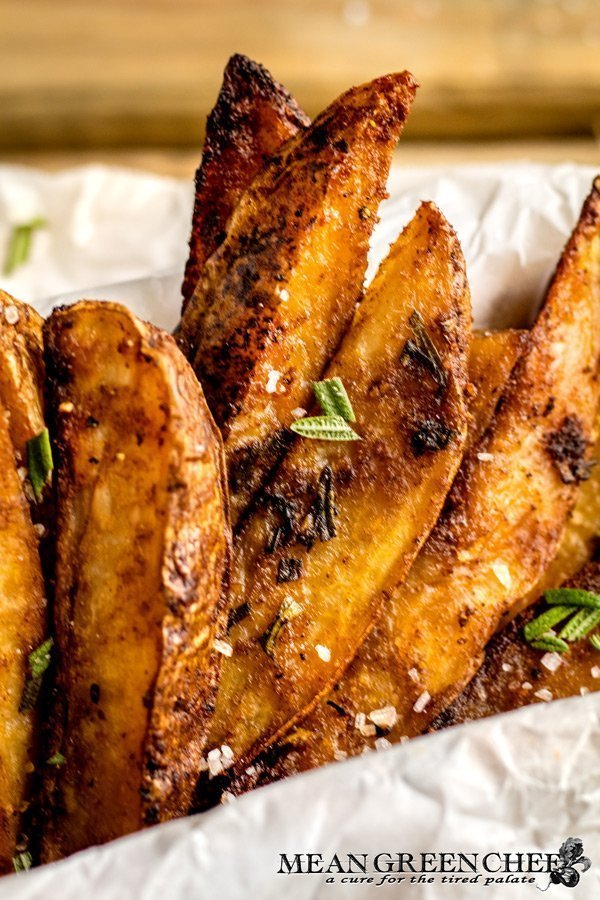 Close up of Crispy Oven Baked Fries
