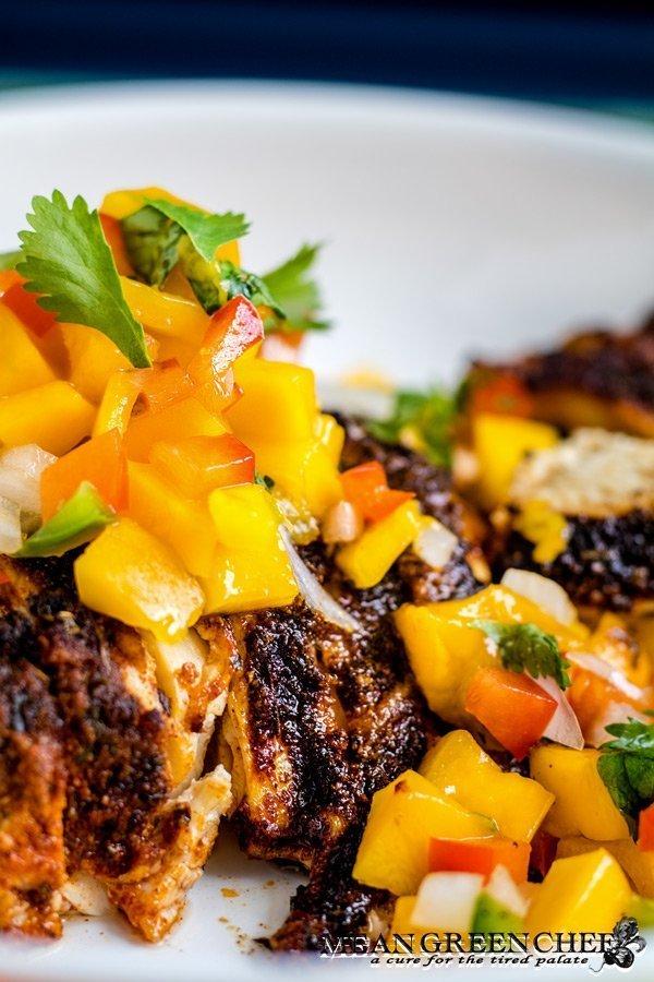 Blackened Chicken with Fresh Mango Salsa